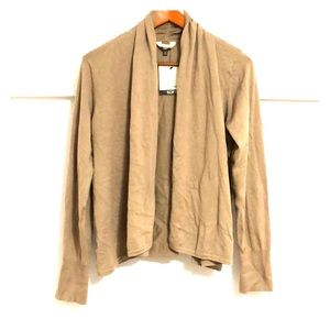 DENVER HAYES Soft Waterfall Cardigan Cappuccino